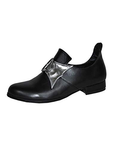 Karneval-Klamotten Prinzenschuhe schwarz Schuhe Prinz Gardeschuhe Mittelalter-Schuhe Größe ()