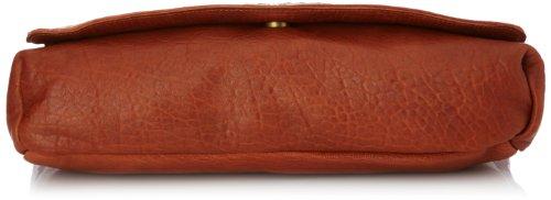 Sous les Pavés Mai Tai, Sac porté épaule Beige (Sauvage Camel/Anse Orange/Ovale)