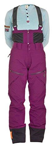 Twentyfour Damen Primaloft Hose mit Trägern Tind - Farbe: dunkelpflaume Größe: 44
