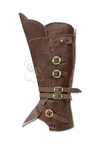 Kostüm Pirat Stiefelstulpen Braun Für Erwachsene - CP-Schuhe Mittelalter Gamaschen Stiefelstulpen (XL, Braun)