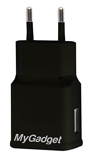 MyGadget Universal Netzteil - USB Adapter (5V / 2A) - Ladestecker Ladeadapter Ladegerät für Apple iPad, iPhone, Samsung, Tablet usw. in Schwarz
