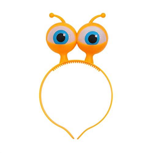 Heaviesk LED-Licht Leuchtende Halloween Gesang Konzert Requisiten Liefert Aliens Augen Kopf Haarband Party Dekoration Erwachsene Kinder ()
