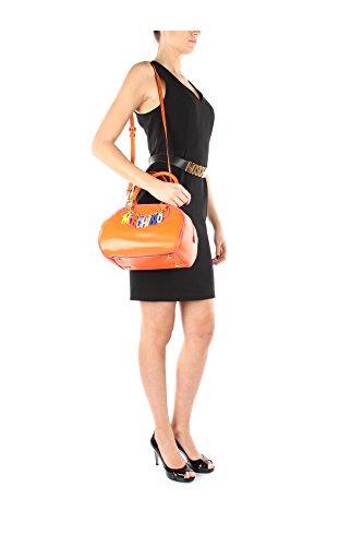 2A749180012064 Moschino Sac a Bandoulière Femme Cuir Orange Orange