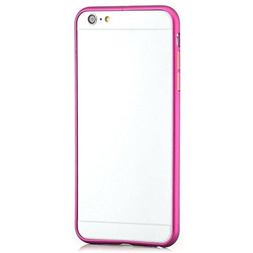 Saxonia Custodia + 2x Vetro Temperato Apple iPhone SE 5 5S Ultra Slim Custodia di alluminio Case Cover Slim Bumper Telaio del Respingente Antiurto | Alta Qualità di Protezione Sottile e Elegante Desig Pink
