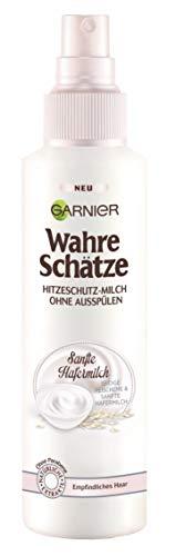 Garnier Wahre Schätze Hitzespray mit sanfter Hafermilch für besonders geschmeidiges Haar / 3er Pack (3x 150ml)