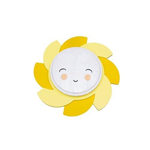 Lámpara amarilla infantil en forma de sol