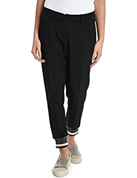 BRUNELLO CUCINELLI Mujer MA029P1972C2355 Negro Acetato Pantalón