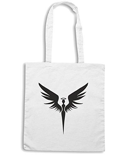 T-Shirtshock - Borsa Shopping FUN0589 angel symbol 48903 Bianco