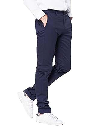 Alice with Alex - Pantalon Chino Homme - Bleu Marine - Taille 28