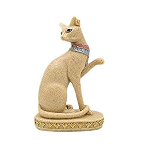 WopenJucy Sandstone Cat Resin Crafts Home Decorations Decoration Home Cat God 10 * 6 * 16 cm