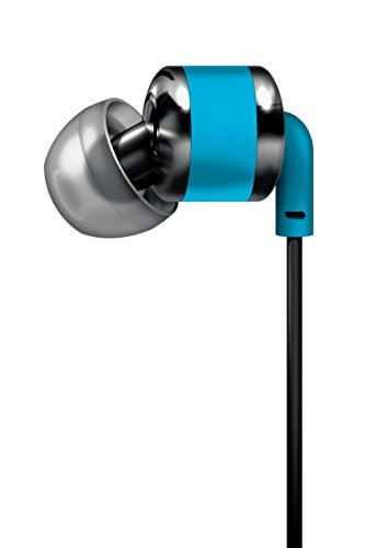 sharper-image-shp886bl-ergonomic-angled-earbuds-with-mic-tangle-free-blue