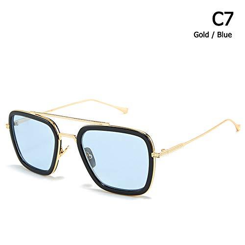 JU DA Sonnenbrillen Neue Mode Square Aviation Style Der Flug 006 Sonnenbrille Männer Frauen Marke Designer Sonnenbrille Oculos De Sol Masculino C7 Spider-Man Stil