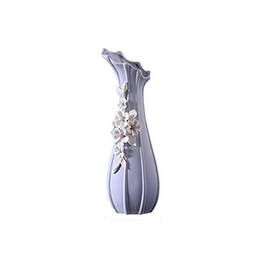 Vases LXF Moderne Minimaliste en Céramique Européen Créatif Salon Comptoir Maison Bureau Table À Manger Table À Vin Cabinet Décoration Décoration (Size : A-10.5 * 26.5cm)