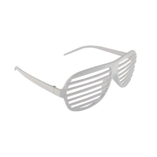 Komonee Weiß / White Neuheit-Shutter Shades Sonnenbrille