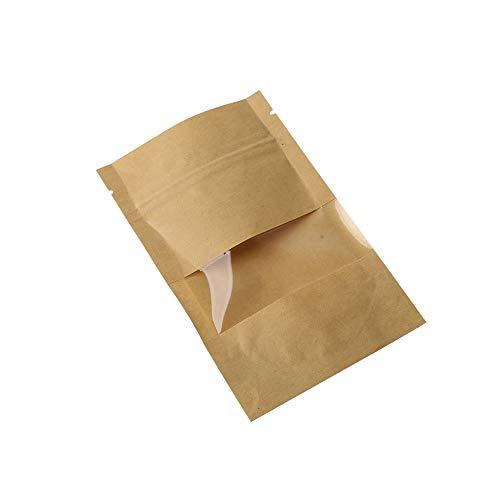 er Tasche Fenster Zip lock Leere Getrocknete Lebensmittel Früchtetee Geschenk paket Selbstdichtende Reißverschluss Stand up Taschen (Color : 12x20cm) ()