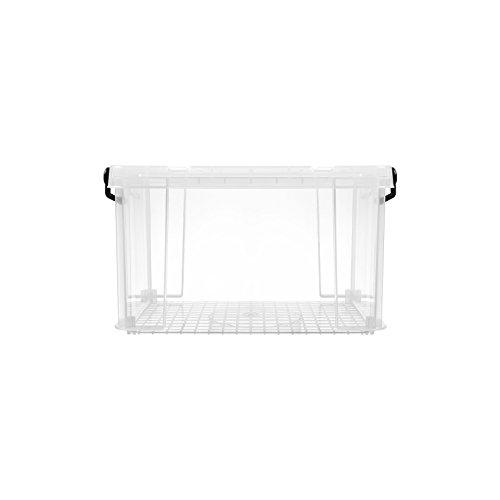 Profi Lagerbox Kunststoff transparent extra stabil stapelbar mit Griffen und Verschluss Größe S 20 Liter