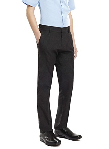 ex BHS Boys Black, Charcoal & Grey Slim Fit Skinny School Trousers Elastic Adjustable Waist 3-16 Yrs