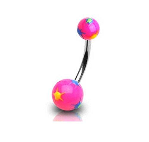 piercing-nombril-en-acier-chirurgical-boule-acrylique-rose-et-taches-de-couleur