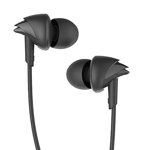 UiiSii C200 In-ear Sport écouteurs HD Claire Musique avec Microphone Anti-bruit pour Iphone/Samsung/Ipod/PC/Tablette (Noir)