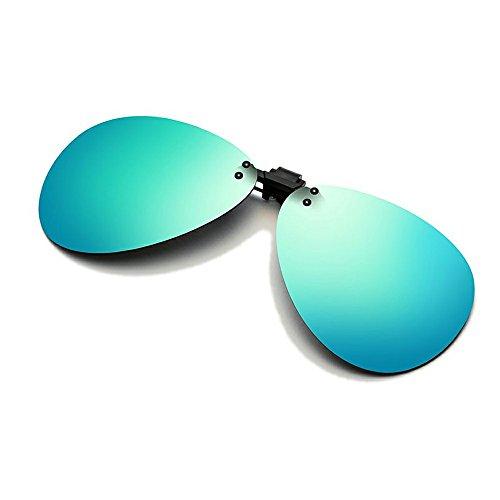 Cyxus Aviator Flash Polarisierte verspiegelte Gläser Classic Sonnenbrille Wechselrahmen sehbrillenkompatibel [Blendfreie] [UV-Schutz] fahren/Angeln Eyewear, Herren und Damen (Damen Grün Skibrille)