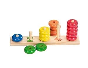 Goki-58941 Puzzles de maderaPuzzles de maderaGOKIAprende a Contar con Anillos, Multicolor (Gollnest & Kiesel 58941.0)