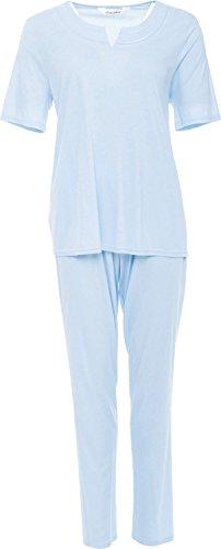 Charmor Schlafanzug Interlock-Jersey bleu Größe 46