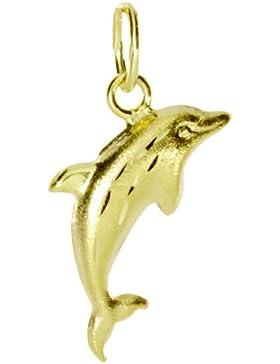 InCollections Damen-Anhänger 333/000 Gold, Delfin 0010100031401