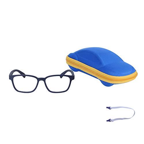 JoXiGo Kinder Brille Ohne Stärke Blaulichtfilter UV Blockieren TR90 Rahmen mit Einstellbare Brillenband + Brillenetui