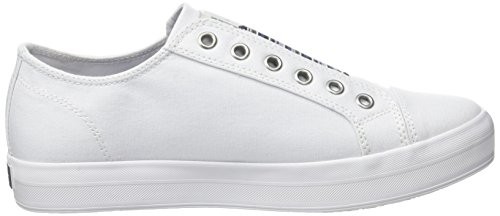 Tommy Hilfiger Damen N1385ice 2d2 Sneaker Weiß (White 100)