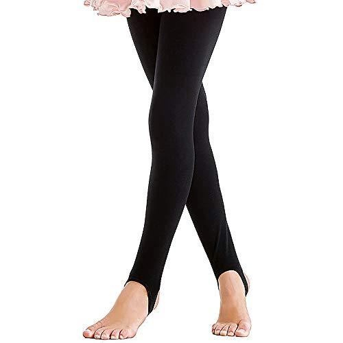 ZNYUNE Mädchen Kinder Ballett Tanz Strumpfhose Gymnastik Steg Leggings Hose Fitnesshose Schwarz 5 6 Jahre -