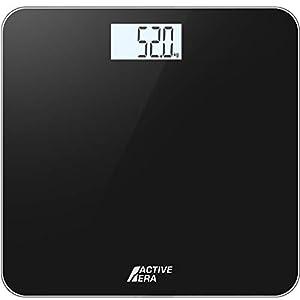 Active Era® Ultra Slim Digital Bathroom Scales with High Precision Sensors (Stone/kgs/lbs) - Gloss Black