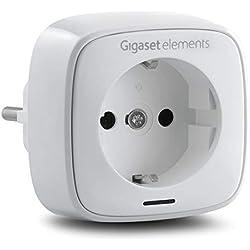 Gigaset Funksteckdose (mit Zeitschaltuhr-Funktion und intelligenter App-Steuerung - Steckdose mit Fernbedienung zur Lichtsteuerung, Smart Home Stecker)