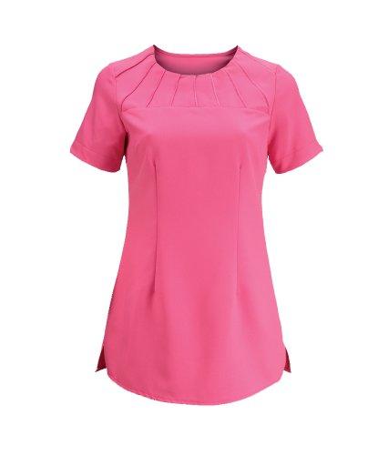 jaimie-rund-hals-starburst-satin-trim-beauty-salon-spa-tunika-rosa-pink