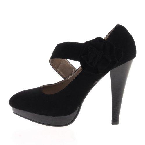 Damen Schuhe, ZH389, PUMPS Schwarz