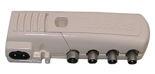 Televes 545740 - Amplificador vivienda 1e2s+tv cei