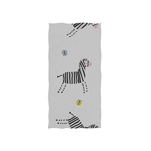 Zebra glücklich lustige süße weiche Spa Strand Badetuch Fingertip Handtuch Waschlappen für Baby Erwachsene Bad Strand Dusche Wrap Hotel Travel Gym Sport 30 x 15 Zoll