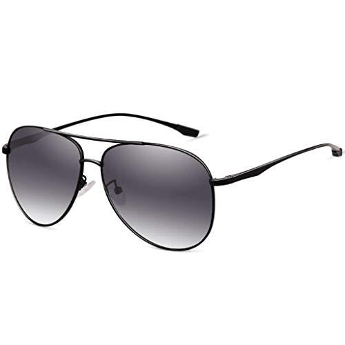 Amcer Polarisierte Aviator-Sonnenbrille, 100% UV-Schutz, Explosionsgeschützte Linse, Fashion Driving Sonnenbrille für Männer und Frauen Black Frame - Gradient Gray