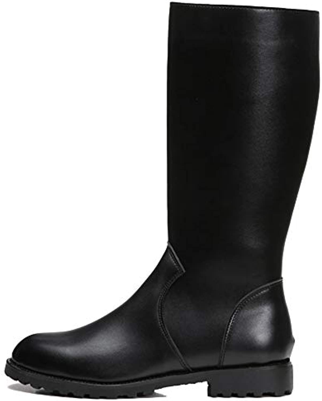YC Uomo Scarpe Scarpe Scarpe Impermeabili Stivali Alti Side Zipper Equitazione Stivale da Moto Combattimento di Avvio Punta... | Moderno Ed Elegante A Moda  7f9588