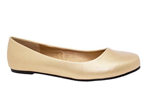 Bailarinas Clasicas en Soft Oro.45