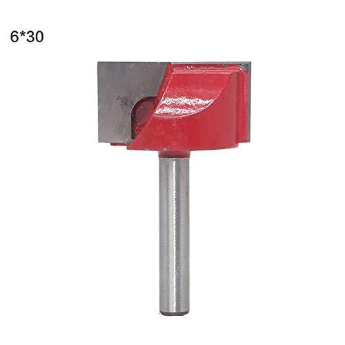 9pcs 6mm Schaft Abricht Bodenreinigungs Router-Bit gesetzt Holzverarbeitung