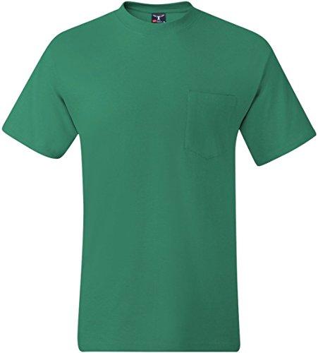 Hanes Adult High Stitch Ring Spun Preshrunk Pocket T-Shirt Kelly