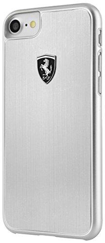 Ferrari fehalhcp7si Heritage Collection Aluminium Hard Case für Apple iPhone 8Plus/7Plus-Silber Aluminium Hard Case