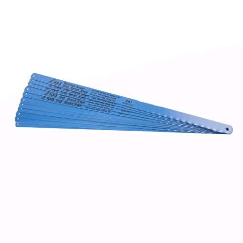 BGS 2061 Lames de scies à métaux flexible en HSS, Bleu, 30 mm, Set de 10 Pièces
