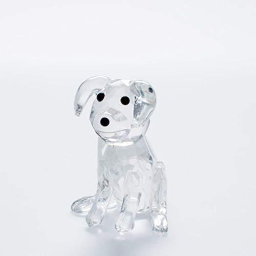 IXO/ALTAYA/ATLAS Crystal Style Hund hochwertige geschliffene Kristall Figur für Sammler Crystal Atlas
