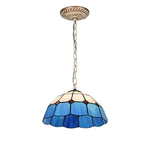 Hanamaki Tiffany Stil Kronleuchter Europäischen Pastoralen Stil Glasmalerei Mittelmeer Serie Flush Mount Deckenleuchte Pendelleuchte Esszimmer Licht (Birne Mount 3 Flush)