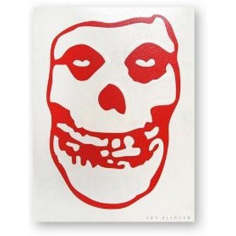 MISFITS Skull Cráneo Red Rub-On Frote-On STICKER,ETIQUETA Officially Oficialmente Licensed Autorizado Artwork,ilustraciones Classic Rock, 7