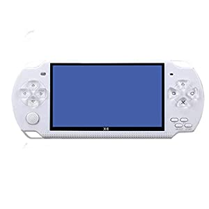 MapleDE Mode Handspielkonsole, Retro 128-Bit-Arcade-Spiel PSP Handheld GBA Nostalgic Handheld-Spielkonsole,Black