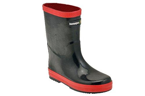 Havaianas  Rain Boots, Bottes de pluie Unisexe enfant multicouleur - Noir/rouge