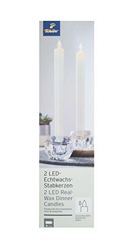 TCM Tchibo 2x velas (velas LED de cera velas Leuchten Blanco Cálido