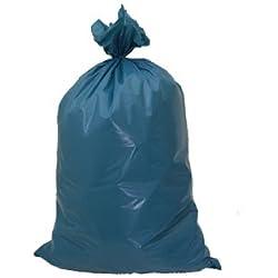 30 Stk. Müllsäcke 120 Liter, 70 x 110 cm, LDPE Typ 100 Extra-stark, blau